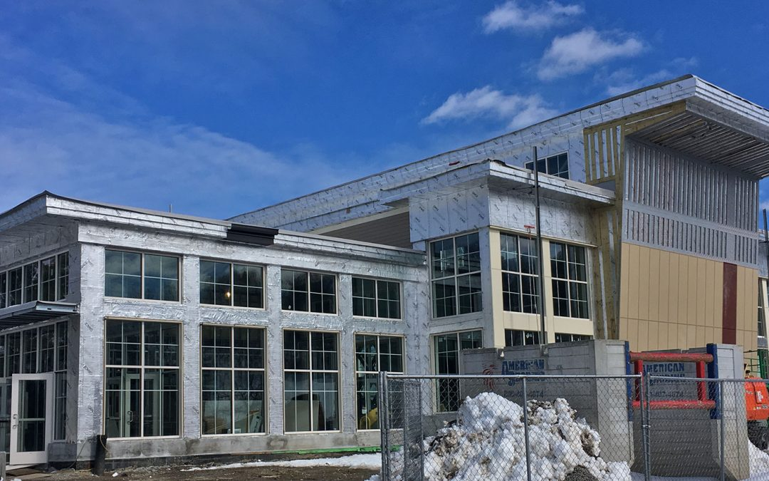 The Jackson – Walnut Park Schools New Student Center, led by Ryan Klebes and Scott Brash is nearing completion.