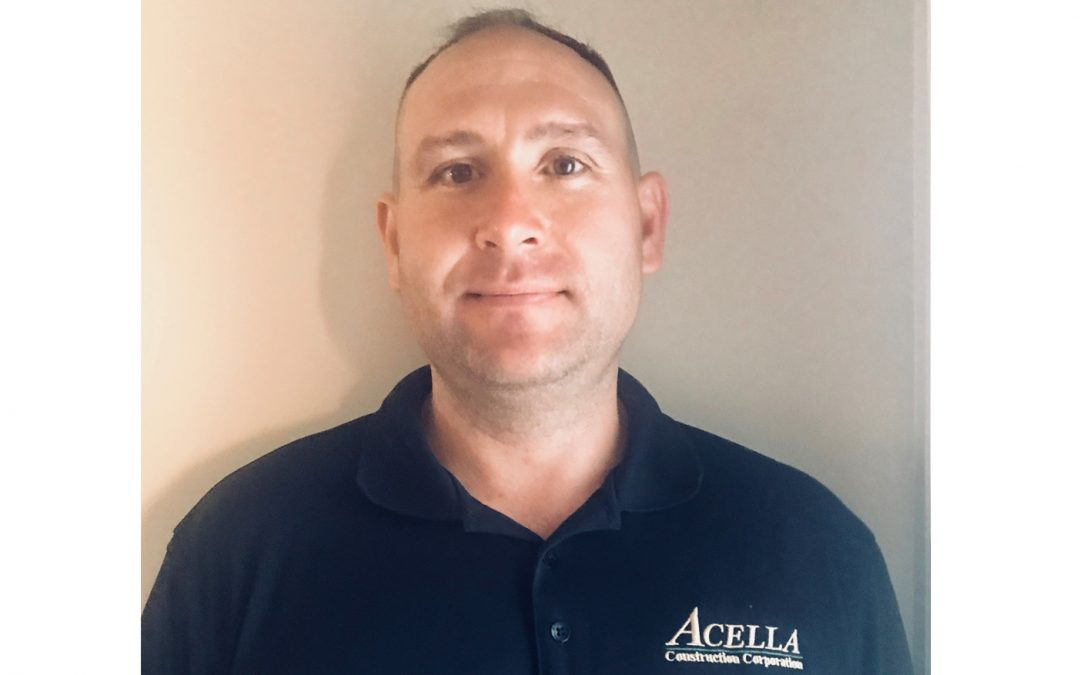 Acella Construction announces Trevor Vaughn as Project Superintendent